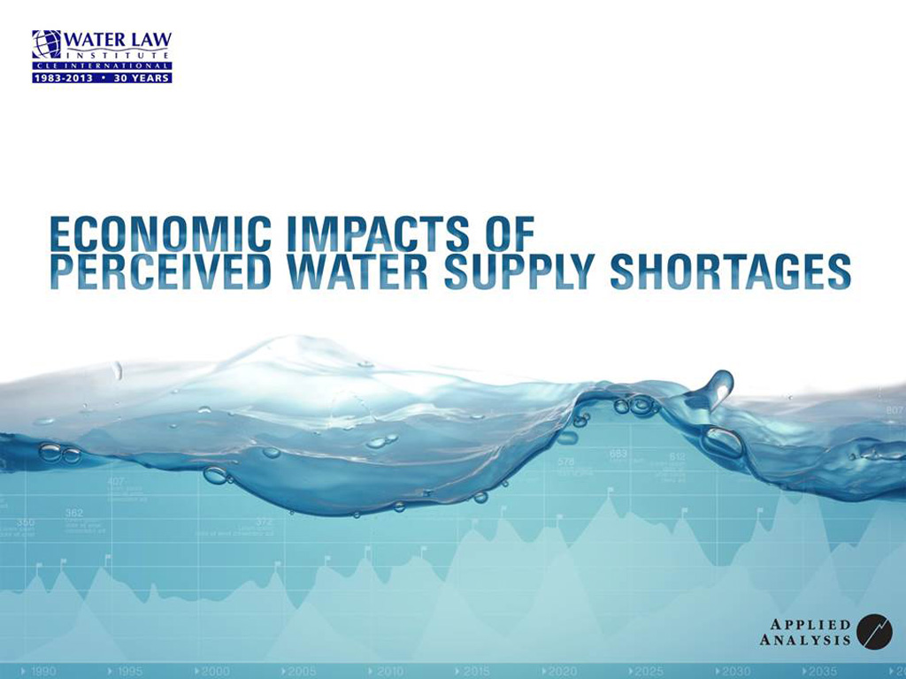 Economic Impacts of Perceived Water Supply Shortages