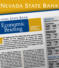 Cover, Nevada State Bank Economic Briefing